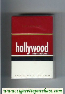 Hollywood International American Blend cigarettes hard box