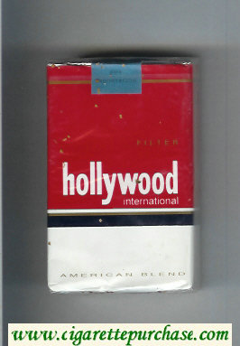 Hollywood International American Blend cigarettes soft box