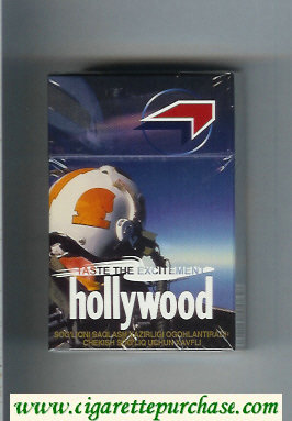 Hollywood Taste The Excitement cigarettes hard box