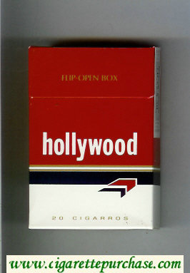 Hollywood cigarettes hard box