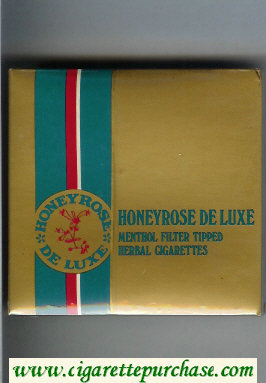 Honeyrose De Luxe Menthol cigarettes wide flat hard box