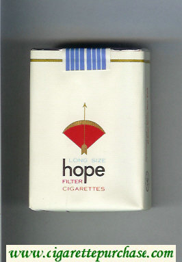Hope Filter cigarettes soft box
