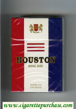 Houston King Size American Type Blend cigarettes hard box