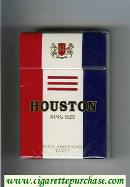 Houston King Size Rich American Taste cigarettes hard box