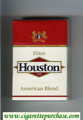 Houston Filter USA American Blend cigarettes hard box