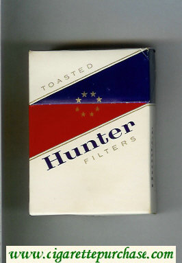 Hunter Toasted Filters Cigarettes hard box