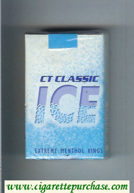 Ice CT Classic Extreme Menthol Kings cigarettes soft box