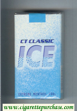 Ice CT Classic Extreme Menthol 100s cigarettes soft box