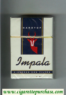 Impala Hardtop cigarettes hard box