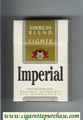 Imperial American Blend Lights cigarettes hard box