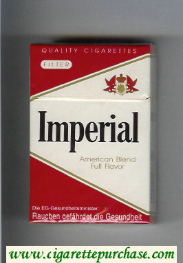 Imperial American Blend Full Flavor cigarettes hard box
