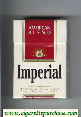 Imperial American Blend cigarettes hard box