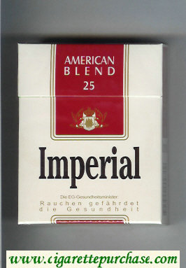 Imperial American Blend 25 cigarettes hard box