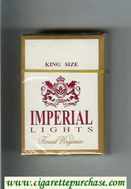 Imperial Lights Finest Virginia King Size cigarettes hard box