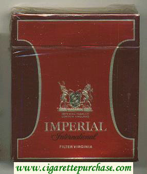 Imperial International 100s cigarettes wide flat hard box
