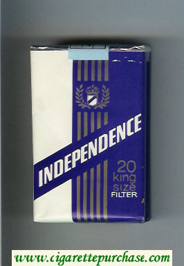 Independence 20 King Size Filter cigarettes soft box