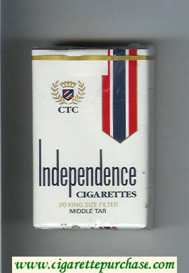 Independence cigarettes 20 King Size Filter soft box