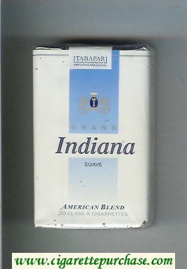 Discount Indiana Suave Grand American Blend cigarettes soft box