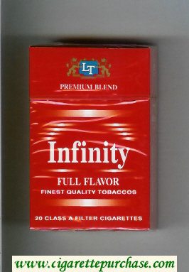 Discount Infinity Premium Blend Full Flavor cigarettes hard box