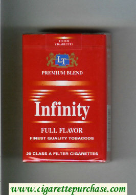 Discount Infinity Premium Blend Full Flavor cigarettes soft box