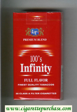 Discount Infinity Full Flavor Premium Blend 100s cigarettes soft box