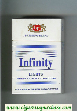 Discount Infinity Premium Blend Lights cigarettes hard box