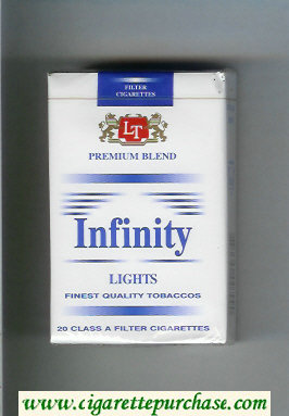 Discount Infinity Premium Blend Lights cigarettes soft box