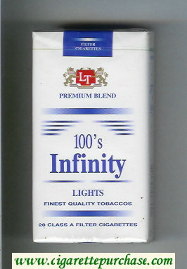 Infinity Lights Premium Blend 100s cigarettes soft box