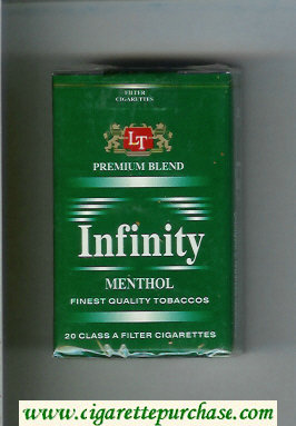 Discount Infinity Premium Blend Menthol cigarettes soft box