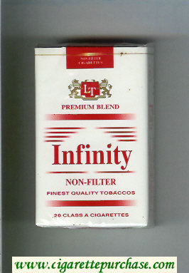 Discount Infinity Premium Blend Non-Filter cigarettes soft box