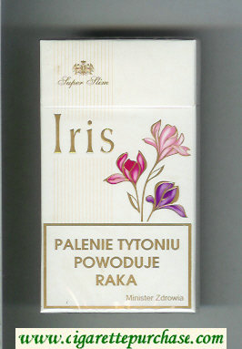 Iris Super Slim 100s cigarettes hard box