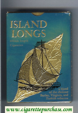 Discount Island Longs 100s cigarettes wide flat hard box