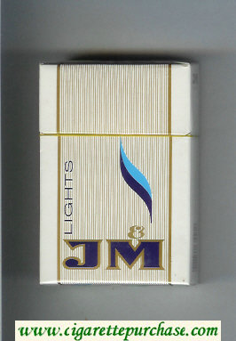 JM Lights cigarettes Hard box