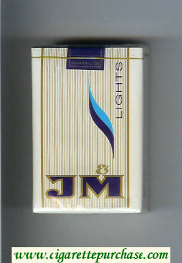 JM Lights cigarettes soft box