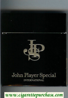 John Player Special International 100s cigarettes wide flat hard box
