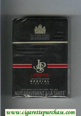 Discount John Player Special Legere black cigarettes hard box