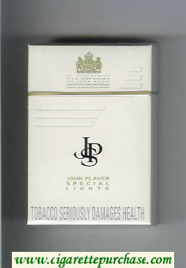 Discount John Player Special Lights white cigarettes hard box