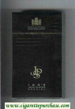 John Player Special 100s Black cigarettes hard box