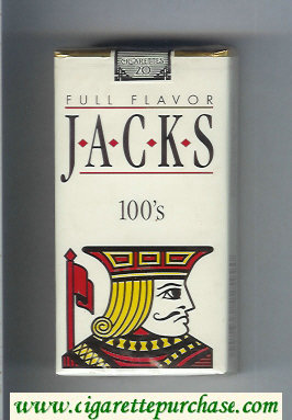 Jacks Full Flavor 100s cigarettes soft box