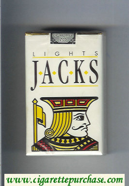 Jacks Lights cigarettes soft box