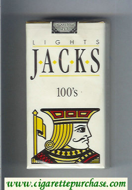 Jacks Lights 100s cigarettes soft box