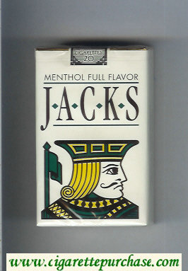Jacks Menthol Full Flavor cigarettes soft box