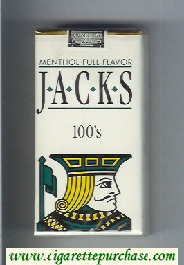 Jacks Menthol Full Flavor 100s cigarettes soft box
