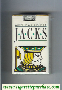 Jacks Menthol Lights cigarettes soft box