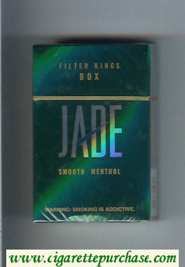 Jade Smooth Menthol Filter cigarettes hard box