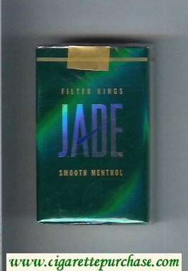 Jade Smooth Menthol Filter King cigarettes soft box