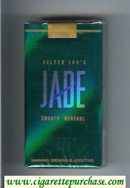 Jade Smooth Menthol Filter 100s cigarettes soft box