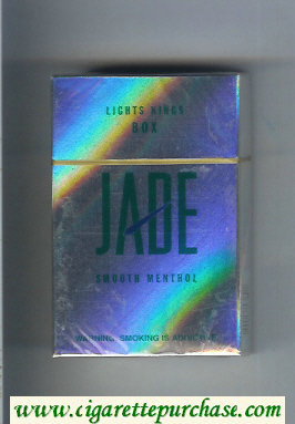Jade Smooth Menthol Lights Kings Box cigarettes hard box