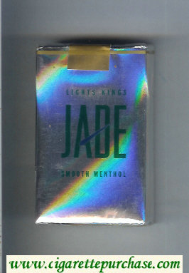 Jade Smooth Menthol Lights Kings cigarettes soft box