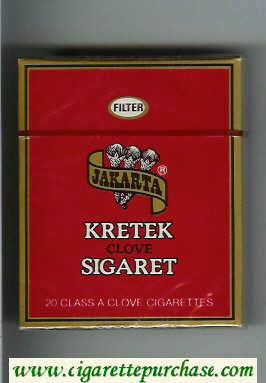 Jakarta Filter Kretek Clove Sigaret 90s cigarettes wide flat hard box